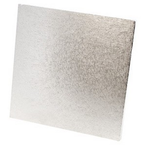 Kakebrett Kvadrat Sølv 10cm