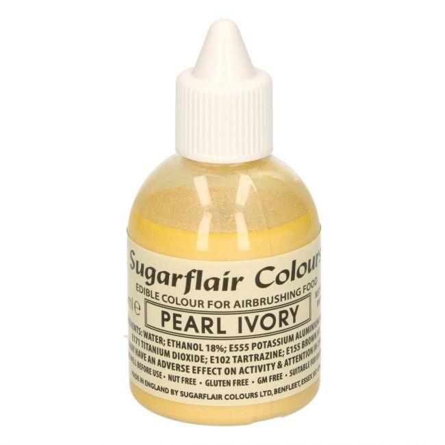 Sugarflair Airbrushfarge -Perle elfenben- 60ml