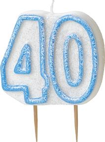 40tall-kakelys, blå/hvit