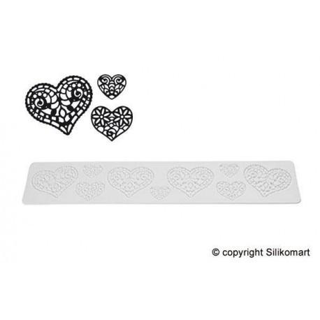 Silikomart Cake Lace silikonmatte -Hearts-