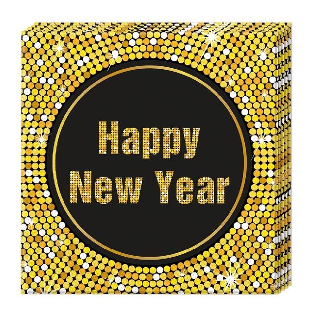 Happy New Year servietter 20stk