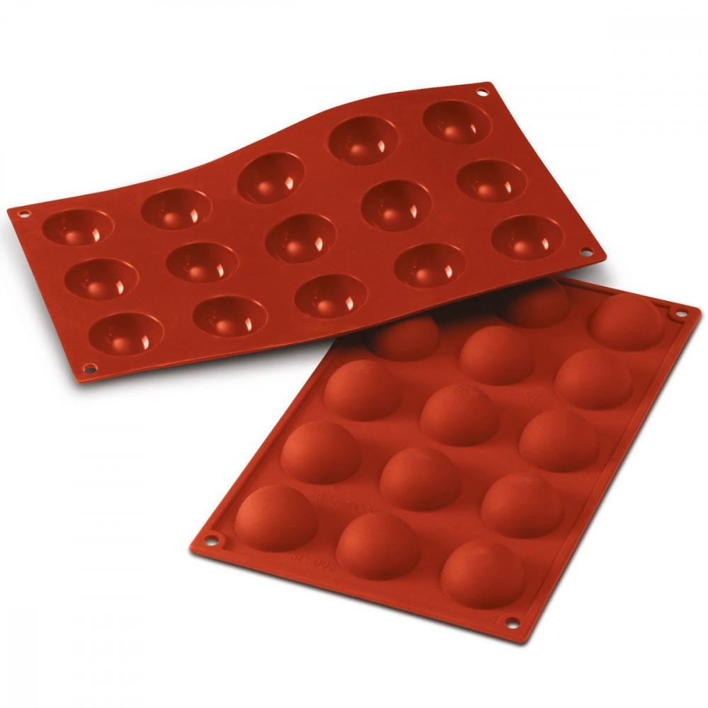 Silikomart halvkuleformer i silikon, Ø 4cm