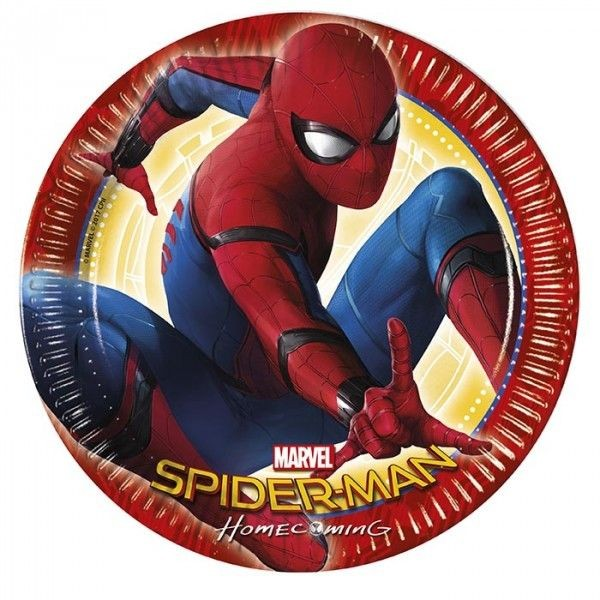 Papptallerken -Spiderman- 23cm pk/8