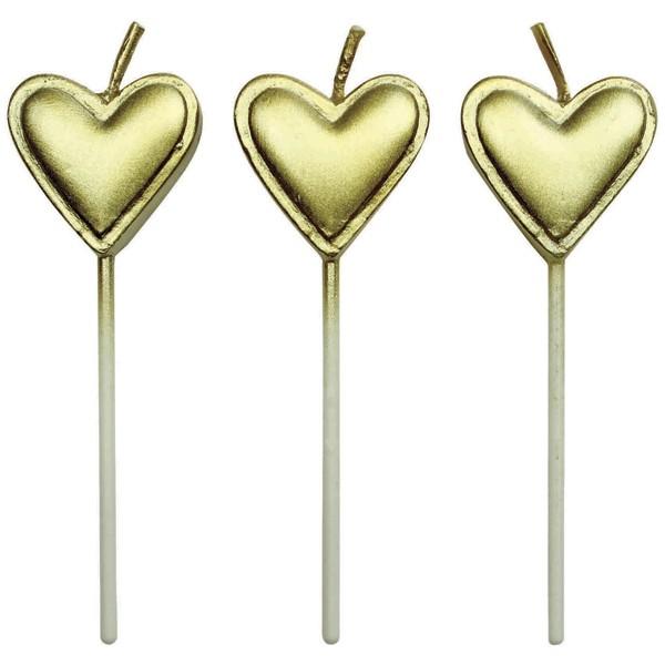 Kakelys Hjerte Gull, sett med 8