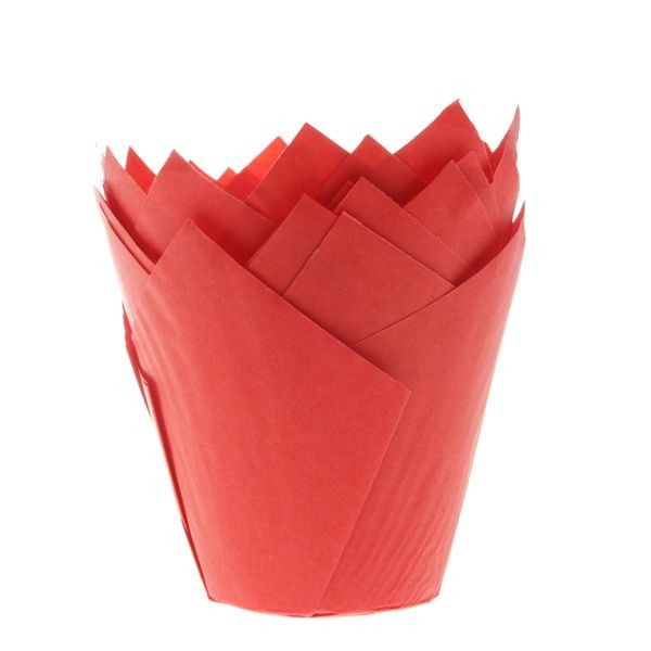 Rød muffinsform tulipan fra House of Marie pk/36