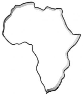 Pepperkakeform Afrika - 11 cm