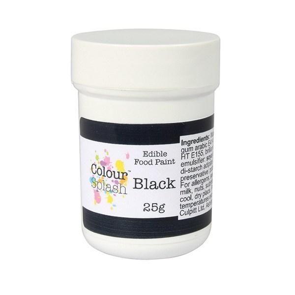 Colour Splash Spiselig Maling -matt svart- 25g