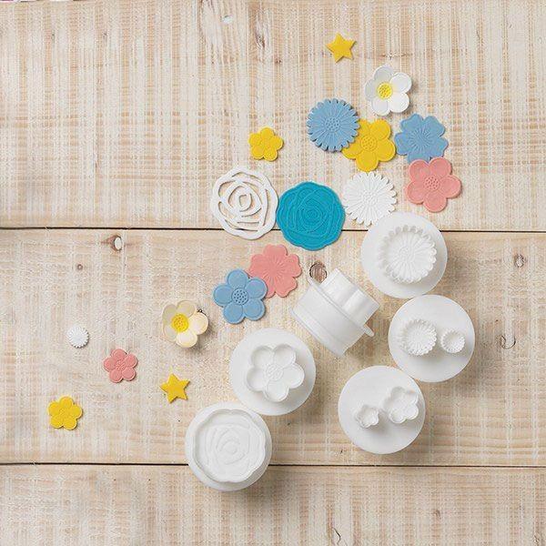 Cake Star Push Easy Blomsterutstikkere, sett/6