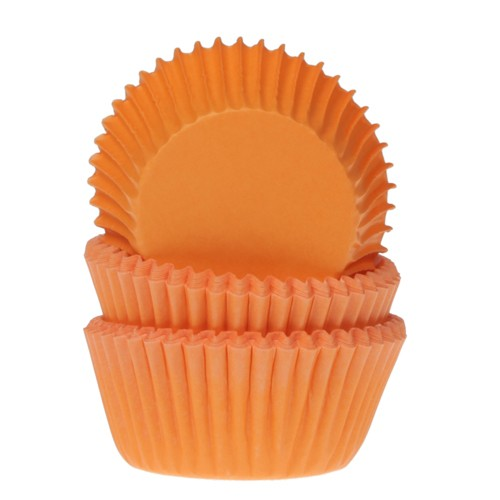 House of Marie Mini Muffinsformer -Oransje- pk/60
