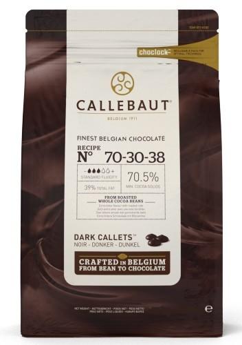 Callebaut ekstra mørk sjokolade 70%, 2,5kg