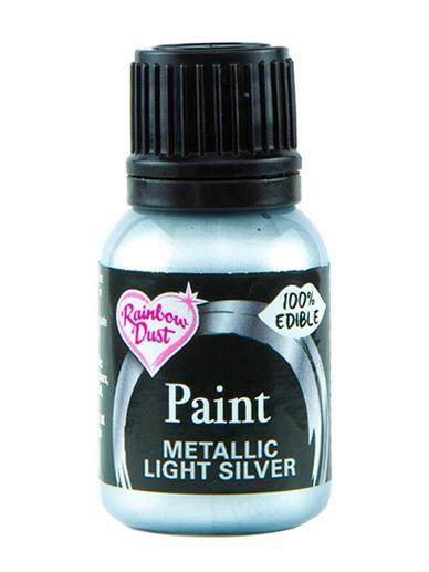 Spiselig Maling Metallic Light Silver 25ml