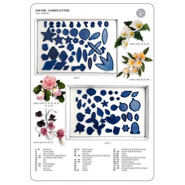 JEM Blomsterutstikkersett stort, 79 deler