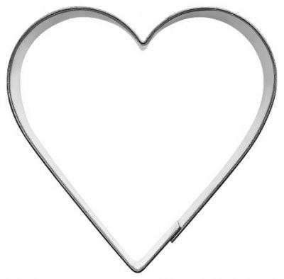 Pepperkakeform hjerte XL - 12 cm