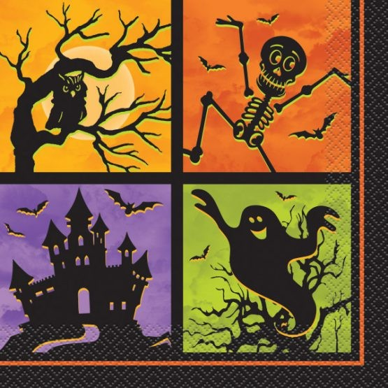 Servietter halloween -Haunted House- pk/20