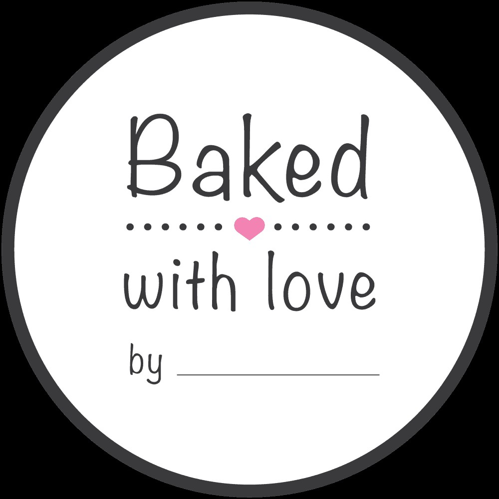 Klistermerker -Baked with love- pk/100