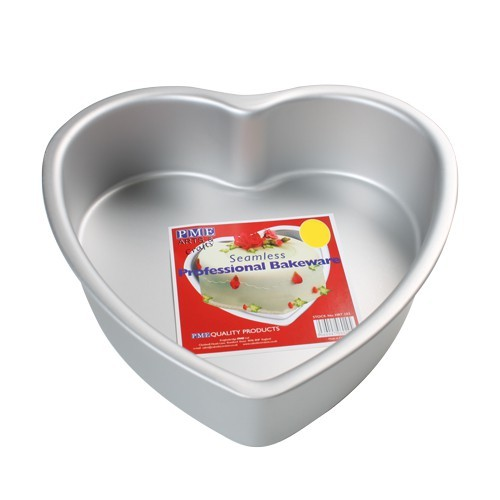 Kakeform, hjerte, 20 cm x 7,5 cm