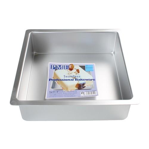 PME Dyp Firkantet kakeform -25x25x7.5cm-
