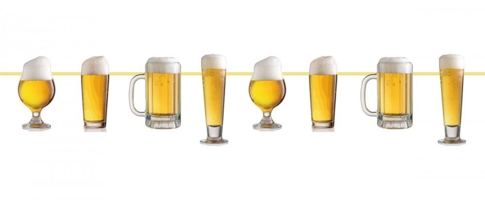 Banner til Oktoberfest/Ølfest - Diverse ølglass - 10m
