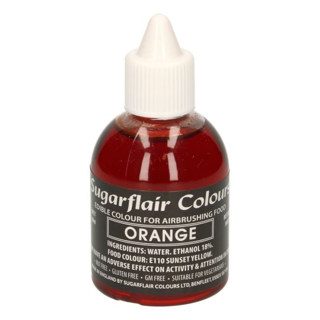 Sugarflair Airbrushfarge -Oransje- 60ml
