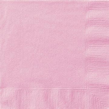 20 små lyserosa servietter