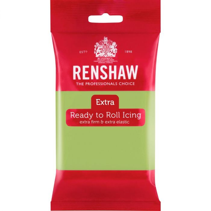 Pastellgrønn fondant fra Renshaw, 250g