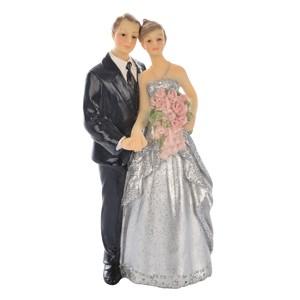 Kaketopp Sølvbryllup brudepar