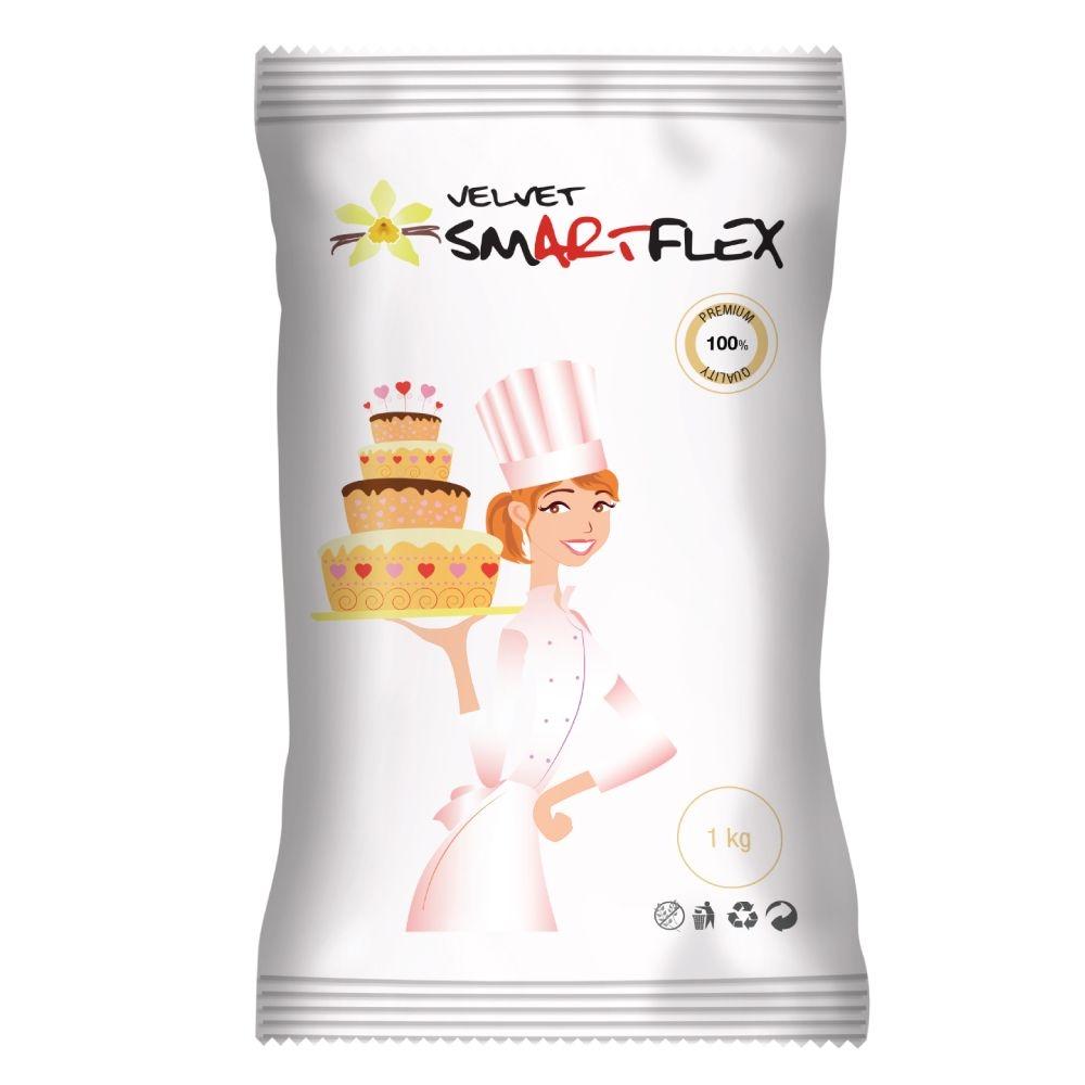 SmartFlex Hvit fondant Velvet Vanilje, 1kg