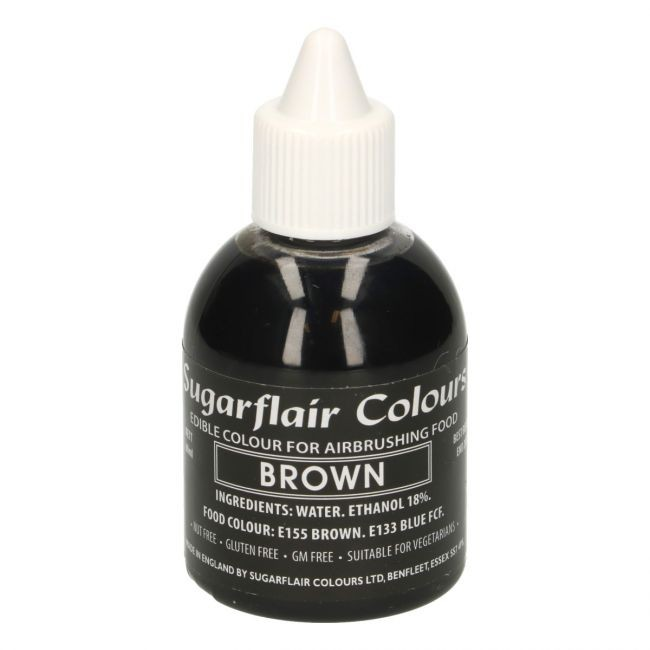 Sugarflair Airbrushfarge -Brun- 60ml