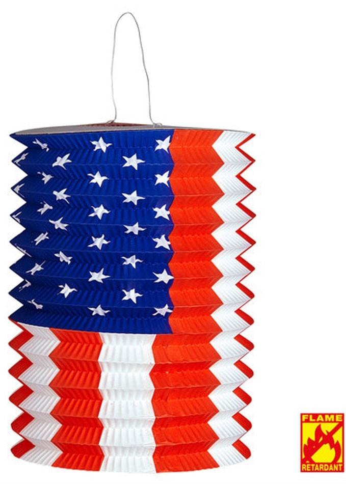 USA-lanternedekor ca 16x28cm