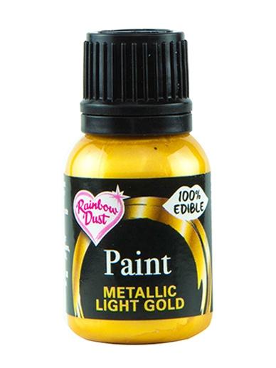 Spiselig Maling Metallic Light Gold 25ml