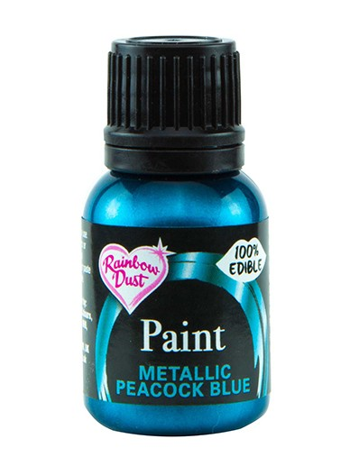 Spiselig Maling Metallic Peacock Blue 25ml