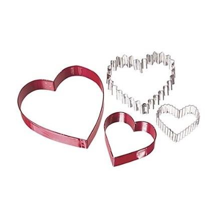 Utstikkersett Hjerte i metall