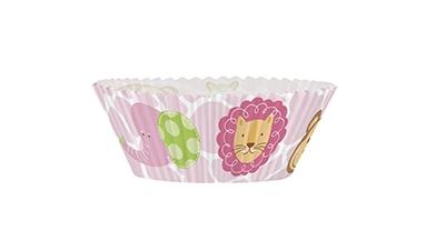 24 Cupcakesett til 1 årsdag, rosa
