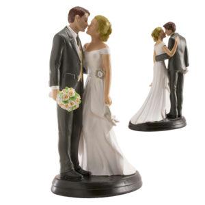 Kaketopp til bryllup -Rosebukett- 18cm