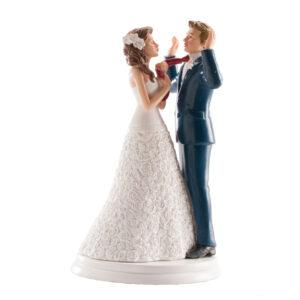 Kaketopp til bryllup -Drar i slipset- 20cm