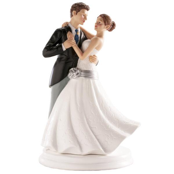 Kaketopp til bryllup -Dansende- 20cm