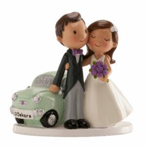 Kaketopp til bryllup -Just Married- 12cm