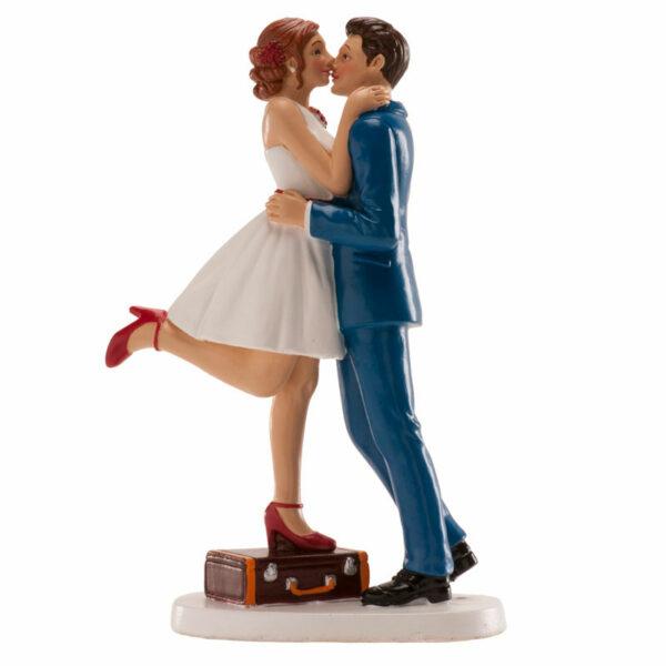 Kaketopp til bryllup -Kysser- 16cm