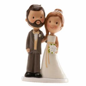 Kaketopp til bryllup -Sjarmerende- 14cm