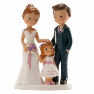 Kaketopp til bryllup -Med jente- 16cm