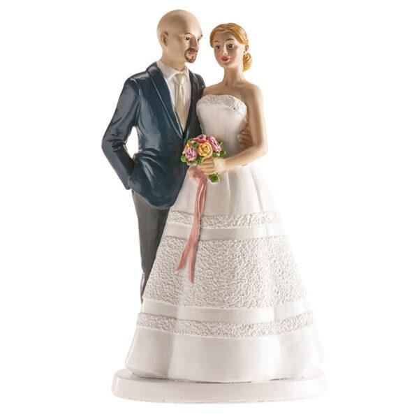 Kaketopp til bryllup -Romantisk- 18cm
