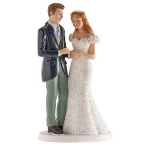 Kaketopp til bryllup -Blomsterkrans- 16cm