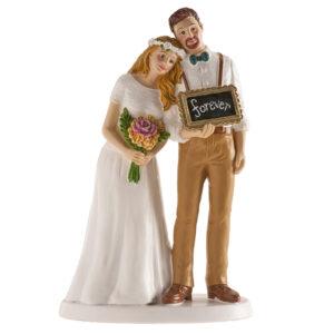 Kaketopp til bryllup -Forever- 16cm