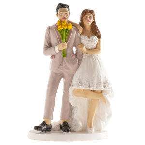 Kaketopp til bryllup -Gule blomster- 16cm