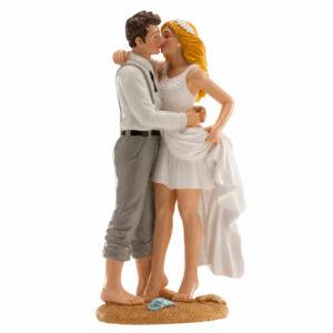 Kaketopp til bryllup -Strand- 16cm