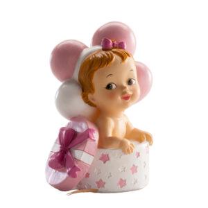 Kaketopp baby -Jente i gave- 10cm