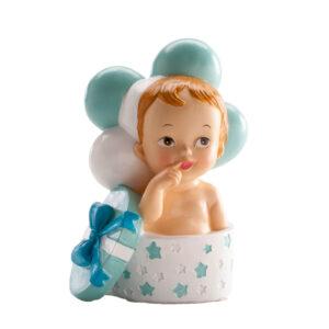 Kaketopp baby -Gutt i gave- 10cm
