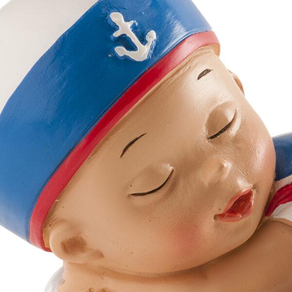 Kaketopp dåp - sovende gutt med matrosdress