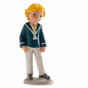 Kakteopp konfirmasjon - gutt med blondt hår og matrosdress