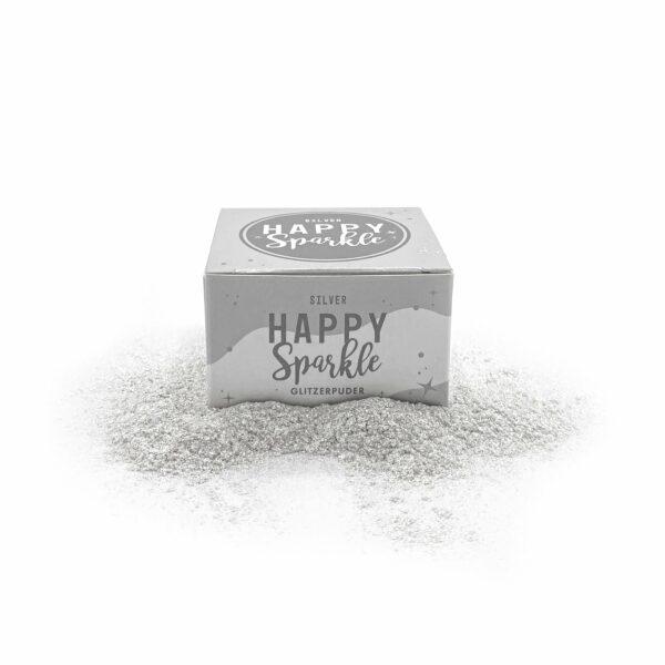 Happy sparkle spiselig glitter sølv